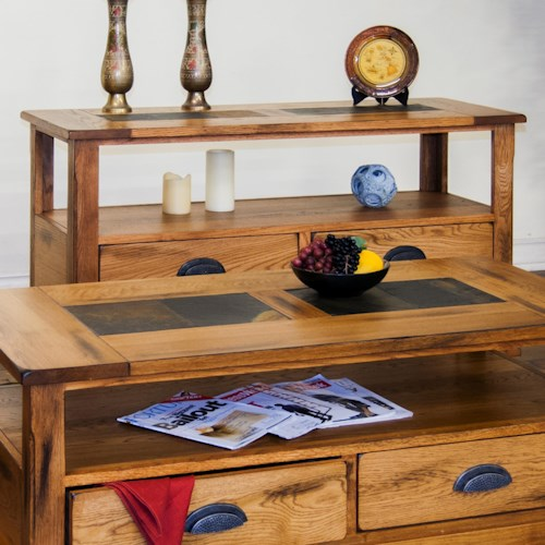 Morris Home Furnishings From Morris Home Furnishings - Sofa Table w/ Drawers