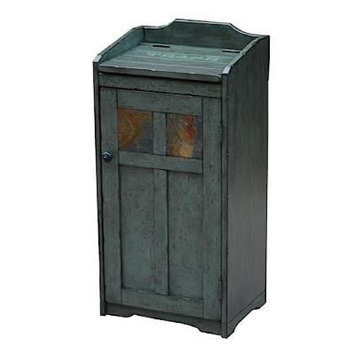 Morris Home Furnishings Winston Rustic Oak Trash Bin