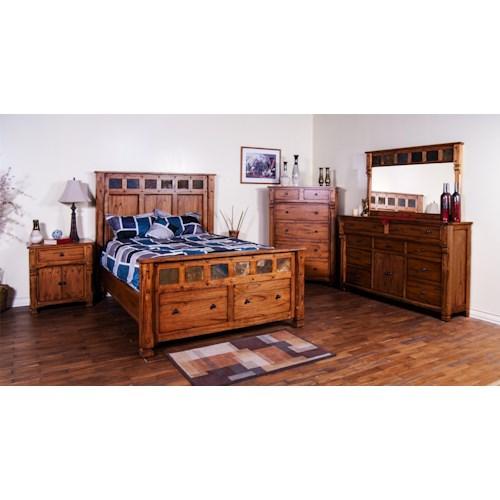 Sunny Designs Sedona Queen Bedroom Group