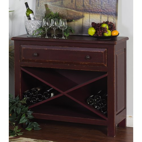 Morris Home Furnishings Sonoma Accent Chest with Wine Storage