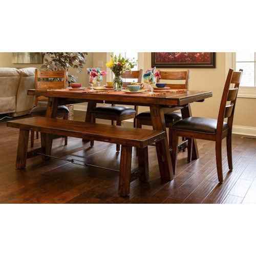 Morris Home Furnishings Tremont 5-Piece Dining Set includes Table and 4 Side Chairs