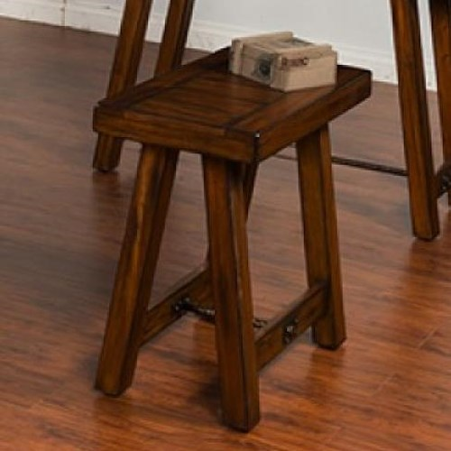 Sunny Designs Tuscany Distressed Mahogany Chair Side Table