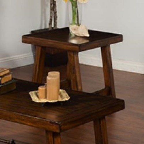 Sunny Designs Tuscany Distressed Mahogany End Table