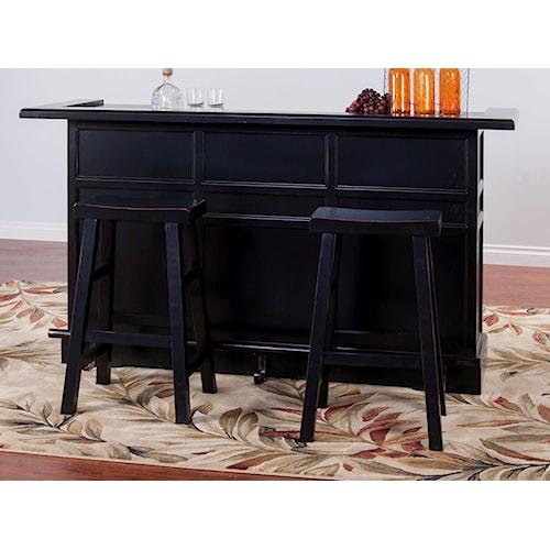 Morris Home Furnishings Vandalia 3-Piece Bar Set