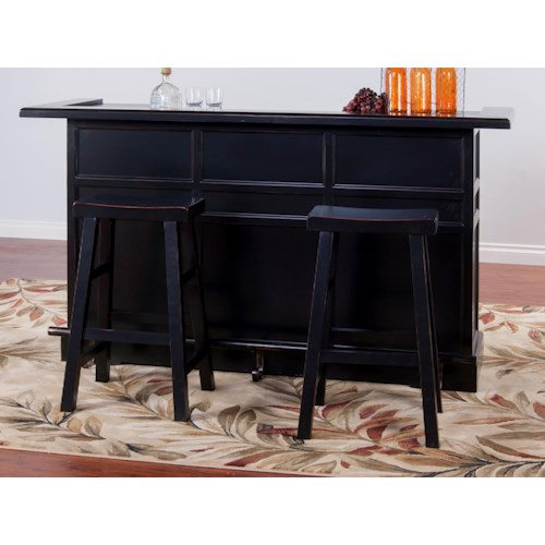 Morris Home Furnishings Vandalia Bar
