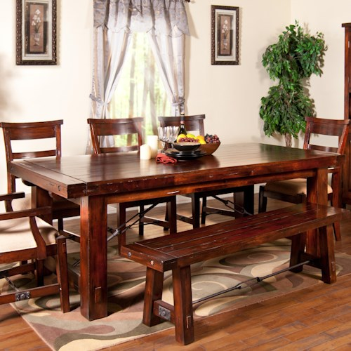 Sunny Designs Vineyard Rectangular Extension Leg Table