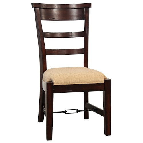Sunny Designs Vineyard Ladder-Back Dining Side Chair with Upholstered Seat