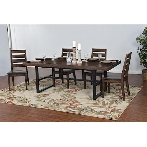 Morris Home Furnishings Wellman 5-Piece Dining Set