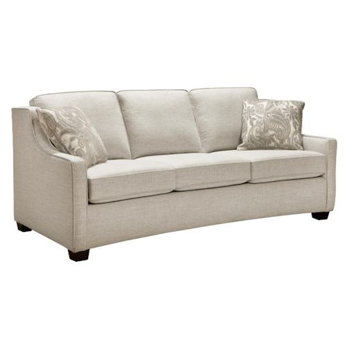 Superstyle 9670 Condo Sized Sofa with Three Seats