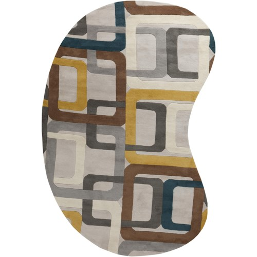 Surya Rugs Forum 6' x 9' Kidney