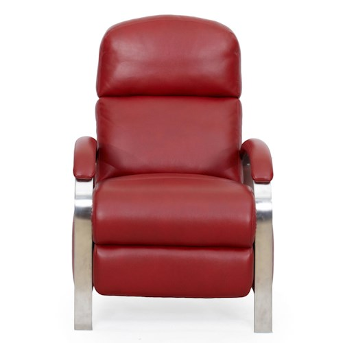 LDI 1238 Contemporary Recliner with Push Through Arms