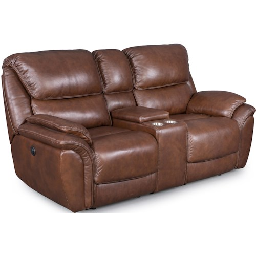 Synergy Home Furnishings 1259 Reclining Loveseat with Console