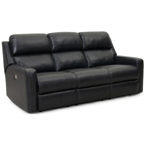 Synergy Home Furnishings 1275 Casual Power Reclining Sofa with 1-Piece Chaise