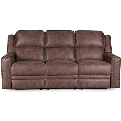 Synergy Home Furnishings 1340 Sofa with Power Headrest and Nailhead Trim