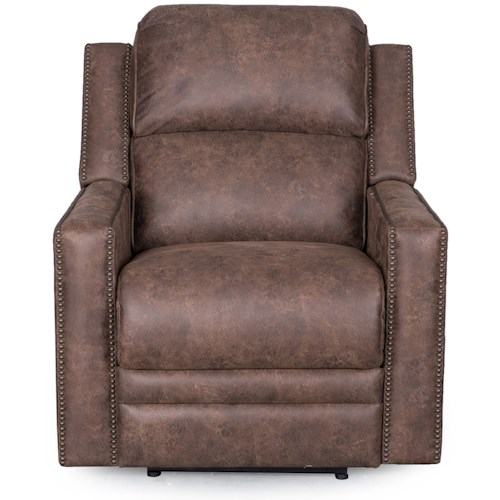 Synergy Home Furnishings 1340 Recliner with Power Headrest and Nailhead Trim