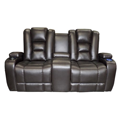 Synergy Home Furnishings 378  Contemporary Power Reclining Loveseat