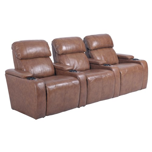 LDI 385  Contemporary Power Reclining Sectional