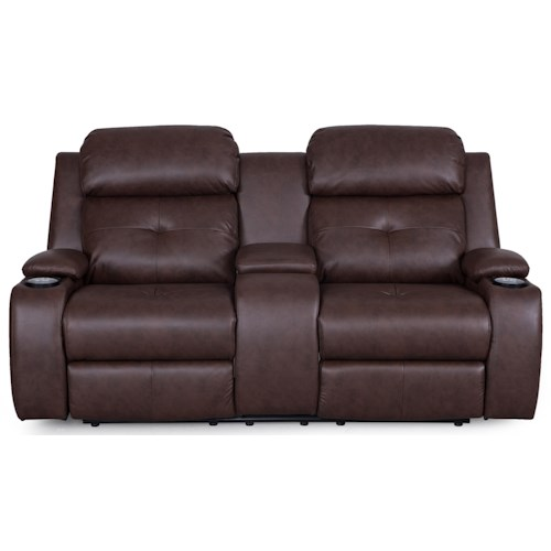 Synergy Home Furnishings 446 Reclining Loveseat w/ Power Headrests
