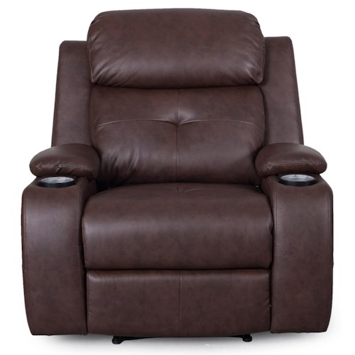 Synergy Home Furnishings 446 Recliner w/ Power Headrests