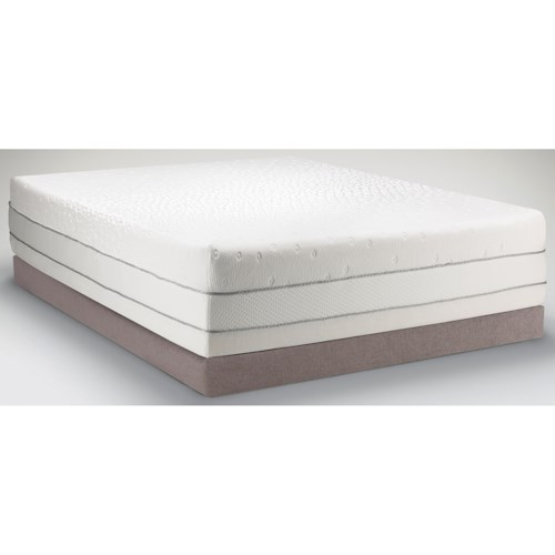 Tempur-Pedic® TEMPUR-Choice™  Luxe Queen Medium Firm to Soft Mattress and Low Profile Tempur-Flat Grey Foundation