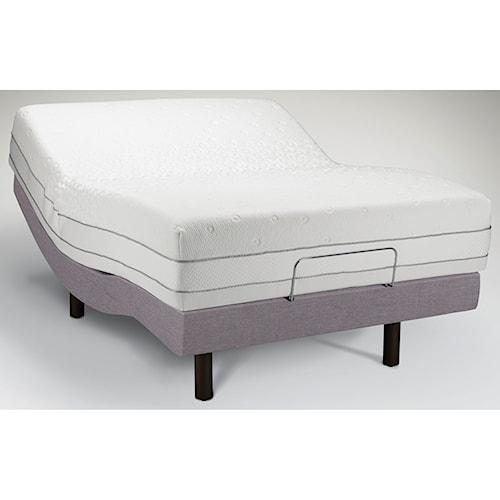 Tempur-Pedic® TEMPUR-Choice™  Luxe Queen Medium Firm to Soft Mattress and Tempur-Ergo Premier Adjustable Grey Base