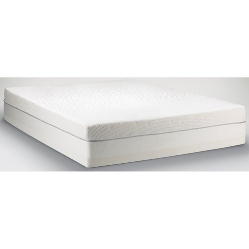 Tempur-Pedic®  TEMPUR-Choice™  Supreme Twin Extra Long Firm to Medium Soft Mattress and Low Profile Grey Foundation