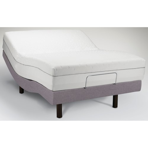Tempur-Pedic®  TEMPUR-Choice™  Supreme Twin Extra Long Firm to Medium Soft Mattress and Tempur-Ergo Premier Grey Adjustable Foundation