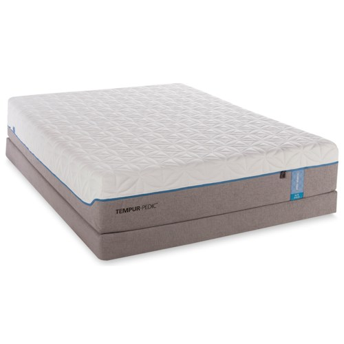 Tempur-Pedic® TEMPUR-Cloud Elite California King Extra-Soft Mattress and Low Profile Foundation