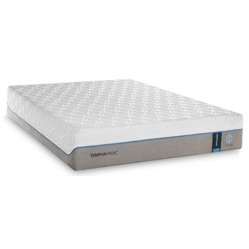 Tempur-Pedic® TEMPUR-Cloud Luxe Breeze 2 Split King Mattress and Ecru Low Profile Foundation