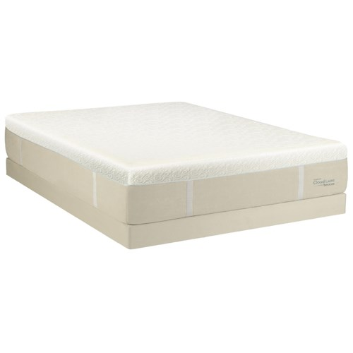Tempur-Pedic® TEMPUR-Cloud® Luxe Breeze California King Ultra Soft Mattress and Ecru Low Profile Foundation