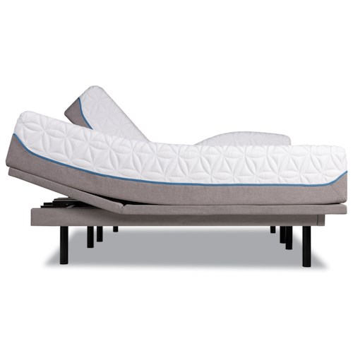 Tempur-Pedic® TEMPUR-Cloud Luxe Twin Extra Long Ultra-Soft Mattress and Tempur-Ergo Plus Adjustable Base