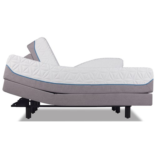 Tempur-Pedic® TEMPUR-Cloud Luxe Twin Extra Long Ultra-Soft Mattress and Tempur-Ergo Premier Adjustable Grey Base