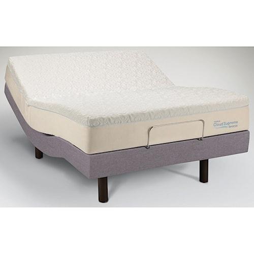 Tempur-Pedic® TEMPUR-Cloud®  Supreme Breeze Twin Extra Long Soft Mattress and TEMPUR-Ergo™ Premiere Adjustable Base