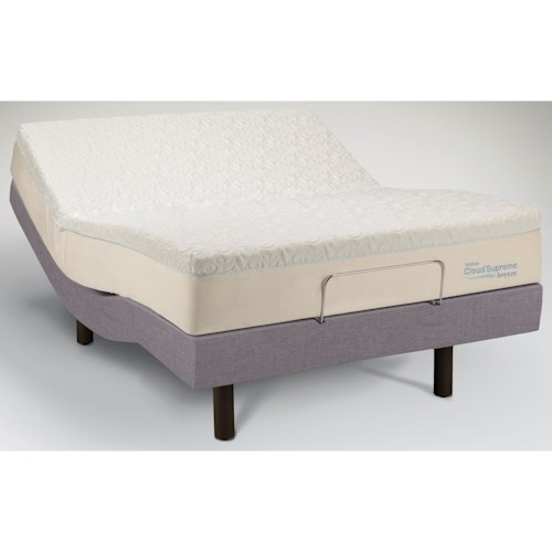 Tempur-Pedic® TEMPUR-Cloud®  Supreme Breeze Queen Soft Mattress and TEMPUR-Ergo™ Premiere Adjustable Base