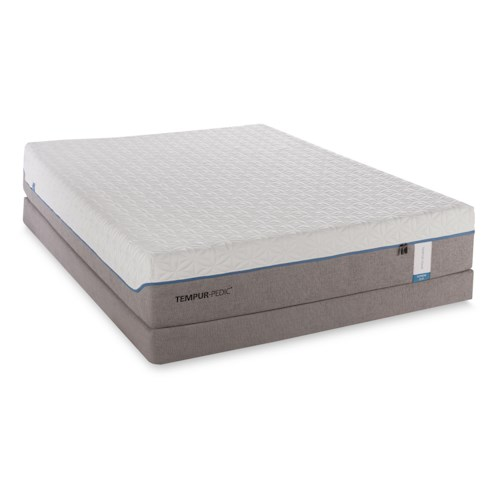 Tempur-Pedic® TEMPUR-Cloud Supreme California King Soft Mattress and Low Profile Foundation