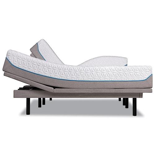 Tempur-Pedic® TEMPUR-Cloud Supreme California King Soft Mattress and Tempur-Ergo Plus Adjustable Grey Base