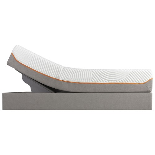 Tempur-Pedic® TEMPUR-Contour Elite Full Medium-Firm Mattress and Tempur-Up Grey Foundation