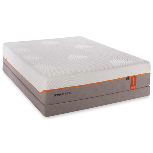 Tempur-Pedic® TEMPUR-Contour Rhapsody Luxe King Medium Firm Mattress and HP Grey Foundation