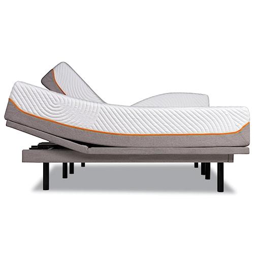 Tempur-Pedic® TEMPUR-Contour Rhapsody Luxe Cal King Medium Firm Mattress and Tempur-Ergo Plus Adjustable Grey Base