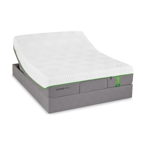 Tempur-Pedic® TEMPUR-Flex Elite Cal King Medium Soft Plush Mattress and TEMPUR-Up Adjustable Foundation