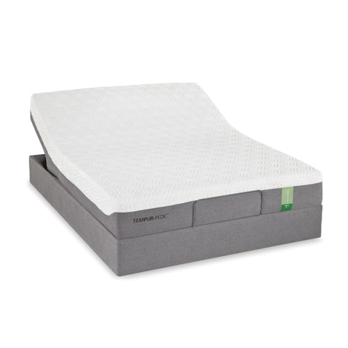 Tempur-Pedic® TEMPUR-Flex Prima Twin Medium Firm Mattress and Tempur-Up Adjustable Foundation