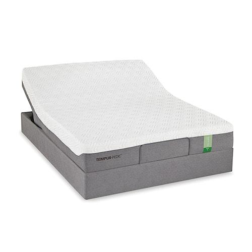 Tempur-Pedic® TEMPUR-Flex Prima Queen Medium Firm Mattress and Tempur-Up Adjustable Foundation