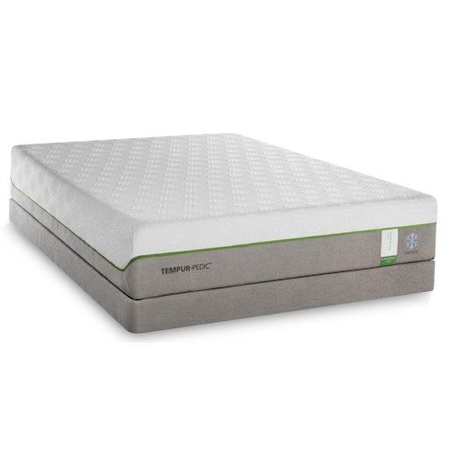 Tempur-Pedic® TEMPUR-Flex Supreme Breeze Queen Medium Plush Mattress and TEMPUR-Ergo Plus Base