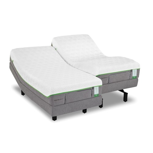 Tempur-Pedic® TEMPUR-Flex Supreme Queen Medium Plush Mattress and TEMPUR-Ergo Plus Base