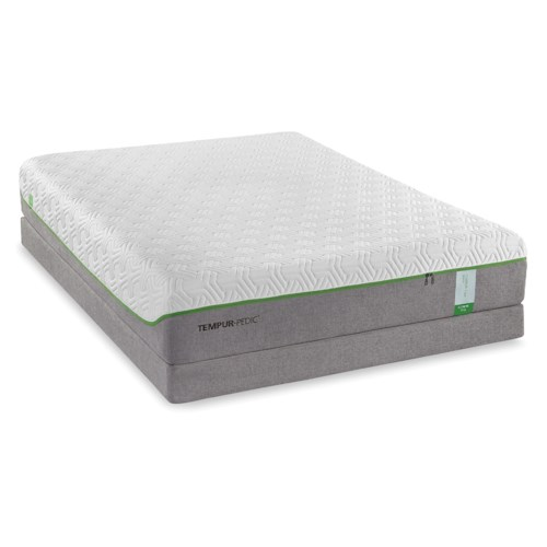 Tempur-Pedic® TEMPUR-Flex Supreme Queen Medium Plush Mattress and Tempur-Flat High Profile Foundation
