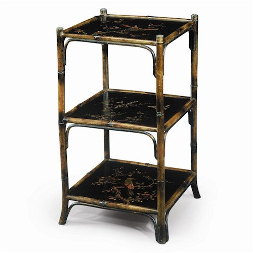 Theodore Alexander Bookcases Chinoiserie Hand Painted 3 Tier Etagere Display Bookcase