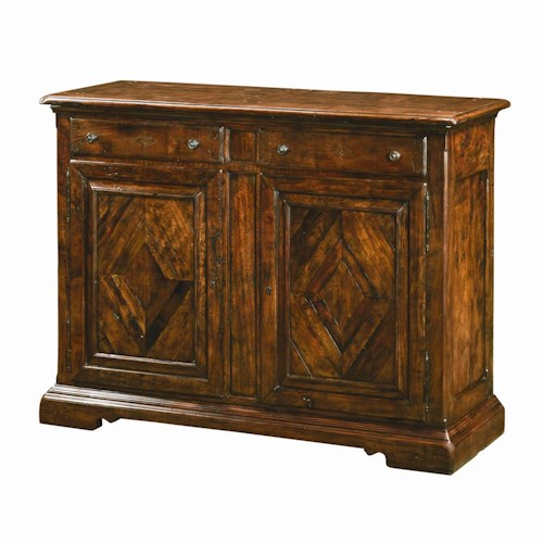Theodore Alexander Cabinets and Sideboards Traditional 2 Drawer 2 Door Side Cabinet