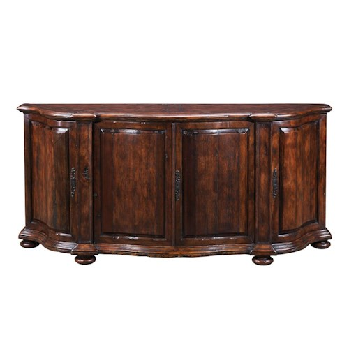 Theodore Alexander Cabinets and Sideboards Traditional Double Serpentine Sideboard