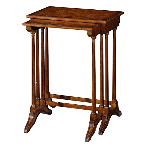 Theodore Alexander Classic yet Casual Nest of Tables with Sleigh Feet