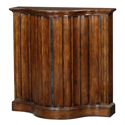 Theodore Alexander Classic yet Casual Serpentine Tall Side Cabinet